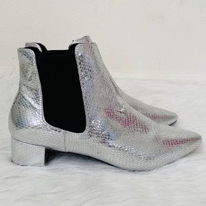 Nordstrom Topshop silver metallic booties